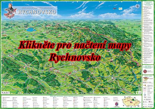 Interaktivní malovaná mapa Rychnovsko