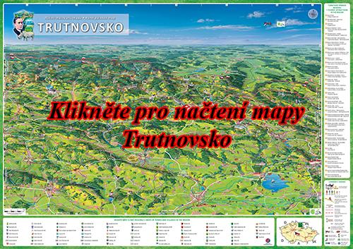Interaktivní malovaná mapa trutnovsko