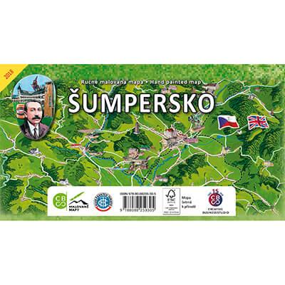 Malovaná mapa Šumpersko