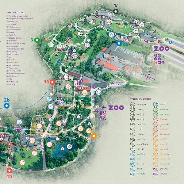 Orientační mapa Zoo Jihlava