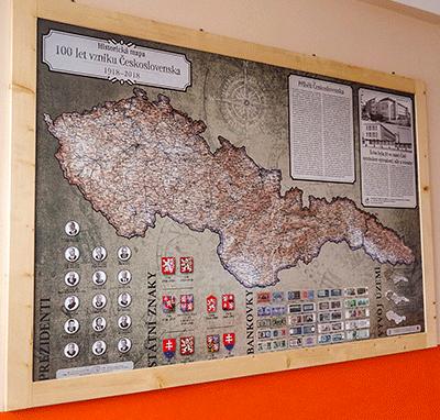 Historická mapa ČSR
