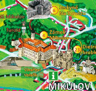 Malovaná mapa Břeclavsko