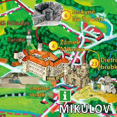 Malovaná mapa Břeclavska