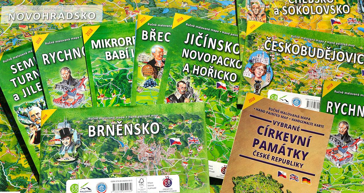 Edice ručně malovaných map