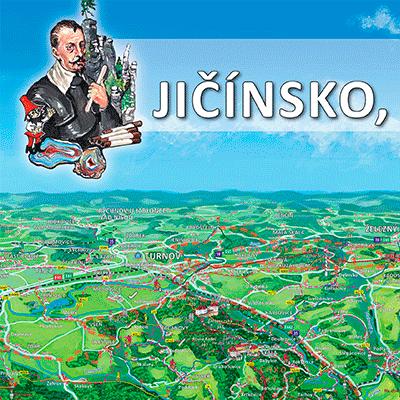 Malovaná mapa Jičínska, Hořicka a Novopacka