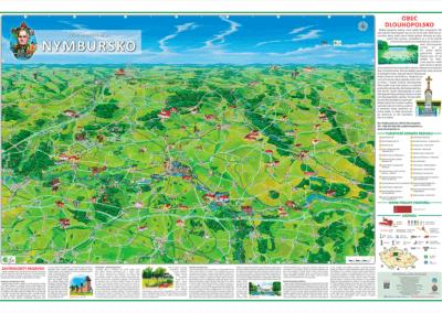 Tabule s malovanou mapou - Dlouhopolsko