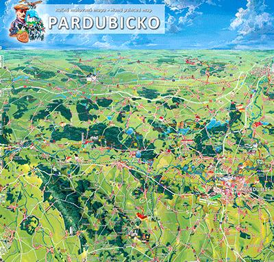 Malovaná mapa Pardubicka