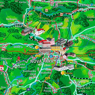 Malovaná mapa Jičínsko