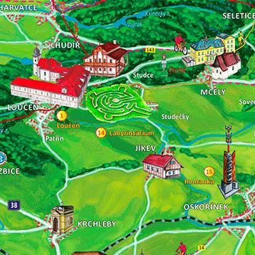 Malovaná mapa Nymbursko