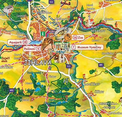 Malovaná mapa Telče