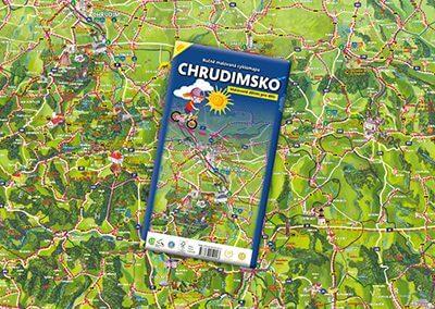 Ručně malovaná cyklomapa Chrudimsko