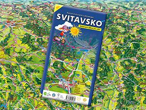Ručně malovaná cyklomapa Svitavsko
