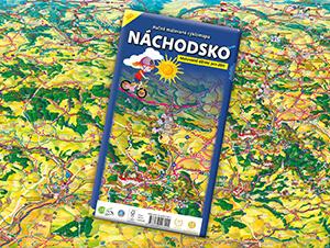 Ručně malovaná cyklomapa Náchodsko