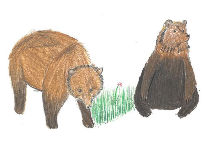 Medvědárium Kladno, Zámek Lány, malba z cyklomapy Kladensko, Kristýna, 13 let