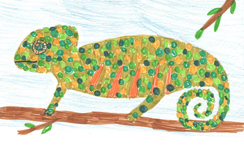 Zoopark Zájezd, malba z cyklomapy Kladensko, Adélka, 10 let