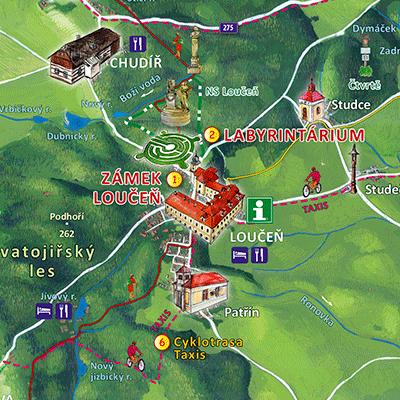 Zámek Loučeň a okolí