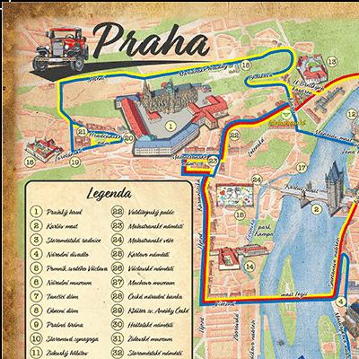Orientační plán Prague old car