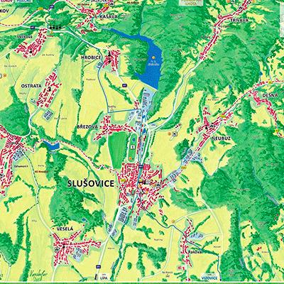 Orientační plány větších územních celků