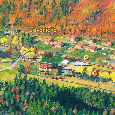 Malovaná mapa Javoříčko