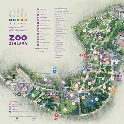 Malovaná mapa ZOO Jihlava