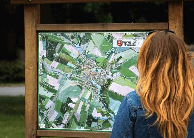 Malovaná mapa města Telč
