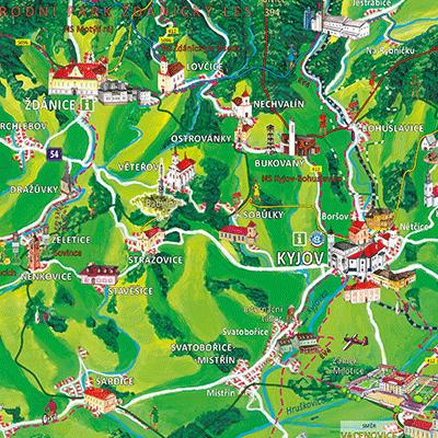 Malovaná mapa pro Mikroregion Babí lom