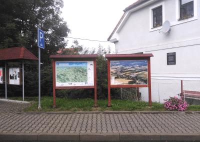 Malovaná mapa - obec Lukavice