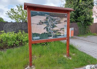 Malovaná mapa - obec Střeň