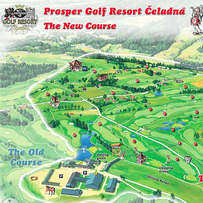 Malovaná mapa Prosper Golf Resort Čeladná - The New Course