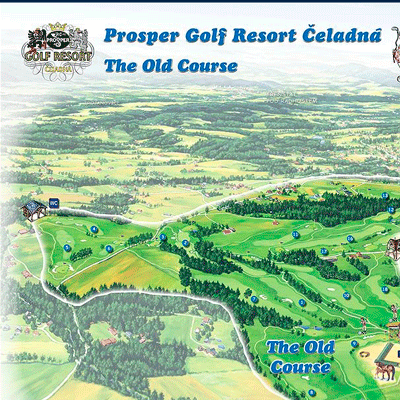 Malovaná mapa Prosper Golf Resort Čeladná - The Old Course