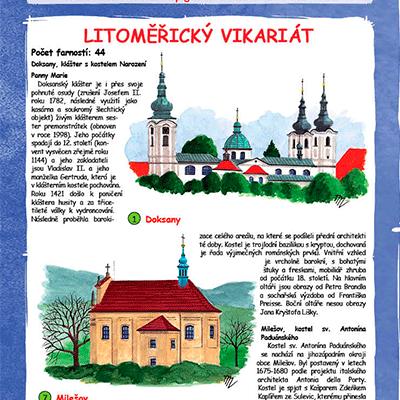 Malovaná mapa Diecéze Litoměřická
