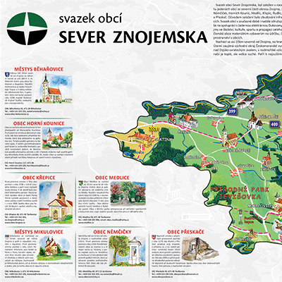 Malovaná mapa Mikroregionu Znojemsko