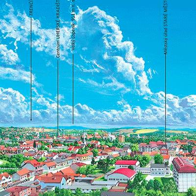 Panoramatická malovaná mapa Staré Město