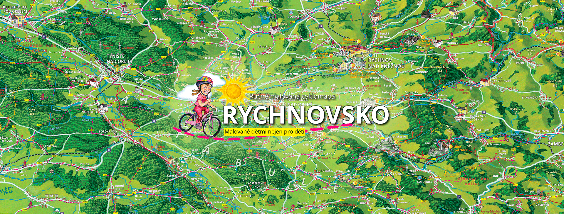 Děti z Rychnovska budou malovat svou cyklomapu